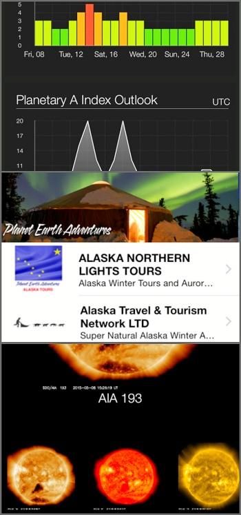 Aplikace pro předpověď polární záře.