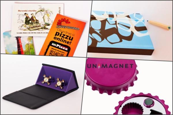 Magnety v reklamní a papírenské výrobě.